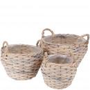 Planting basket Liora, set of 3, D36 / 29 / 22cm,